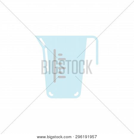 Carafe Container Jug Flat Icon, Vector Sign, Measuring Cup Colorful Pictogram Isolated On White. Sym