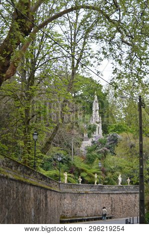 Quinta Tower Of Regaleira Historical Center Unesco Heritage Built By Carvalho Monteiro In The Sevent