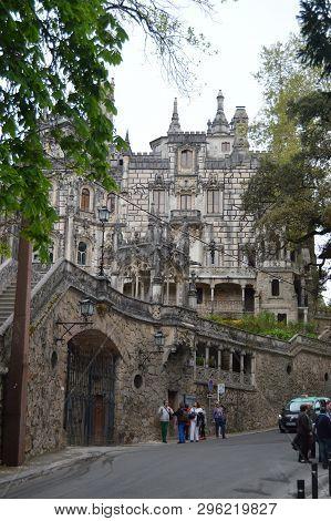 Entrance Quinta De La Regaleira Historical Center Unesco Heritage Built By Carvalho Monteiro In The