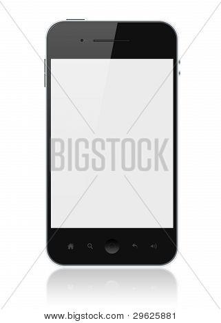 Smartphone mit leeren Bildschirm isoliert