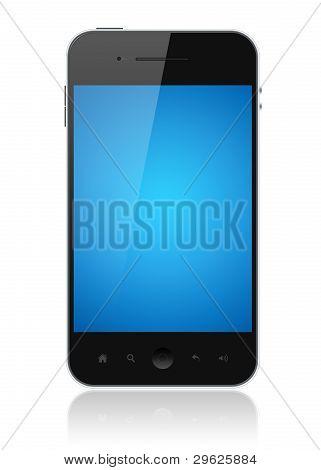 Smartphone mit Bluescreen isoliert