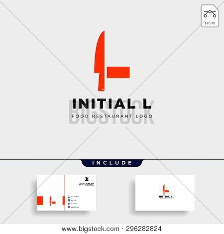 Initial L Food Equipment Simple Logo Template Vector Icon Abstract