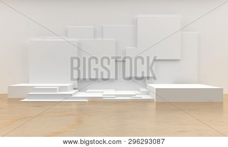 Cube Abstract Background 3d Rendering Image, 3d