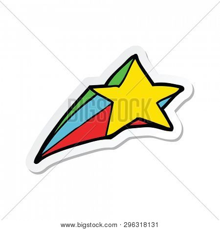 sticker of a shooting star decorative cartoon