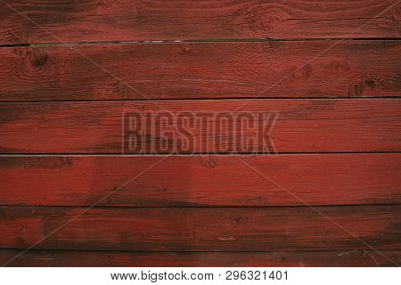 Background Of Red Flaky Wood Backdrop Of Red Colored Wooden Panels With Aged Flaky Surface