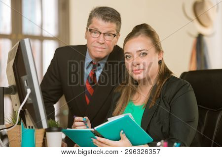 Professional Business Team Sitting In Their Office