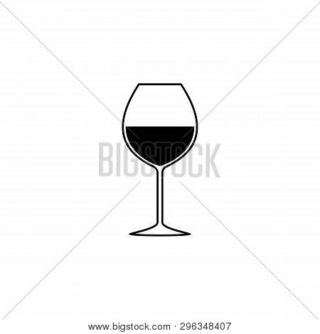Glass With Wine Icon In Trendy Design Style. Glass With Wine Icon Isolated On White Background. Glas