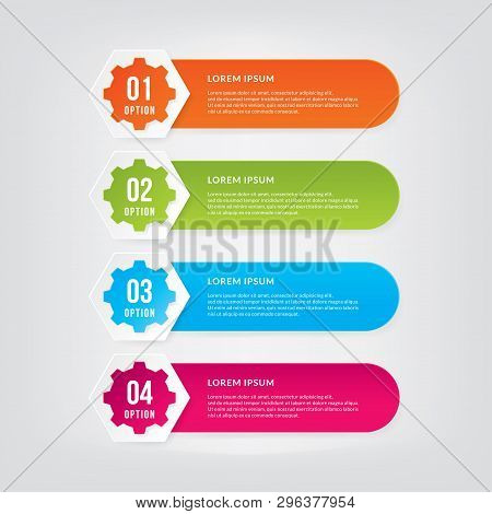 Info-graphic Design Elements With Numbers. Info-graphic Design Vector For Work-flow Layout, Diagram,