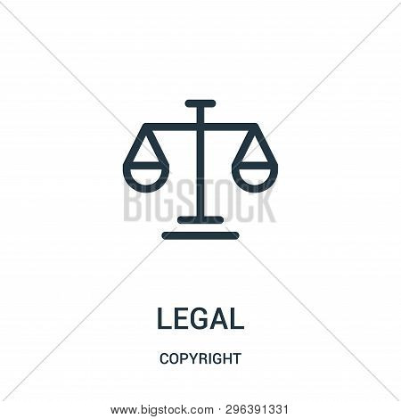 Legal Icon Isolated On White Background From Copyright Collection. Legal Icon Trendy And Modern Lega