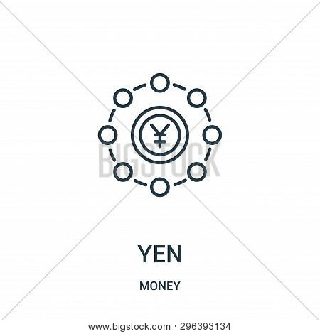 Yen Icon Isolated On White Background From Money Collection. Yen Icon Trendy And Modern Yen Symbol F
