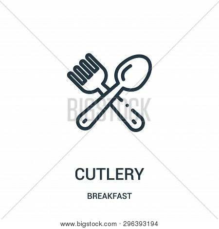 Cutlery Icon Isolated On White Background From Breakfast Collection. Cutlery Icon Trendy And Modern