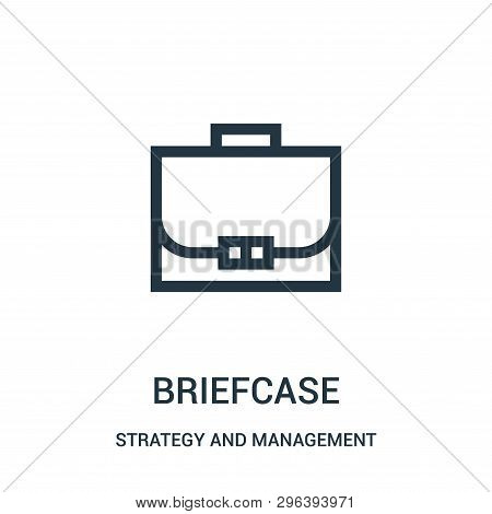 Briefcase Icon Isolated On White Background From Strategy And Management Collection. Briefcase Icon