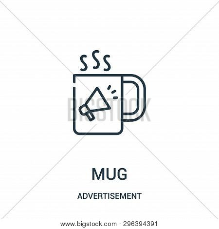 Mug Icon Isolated On White Background From Advertisement Collection. Mug Icon Trendy And Modern Mug