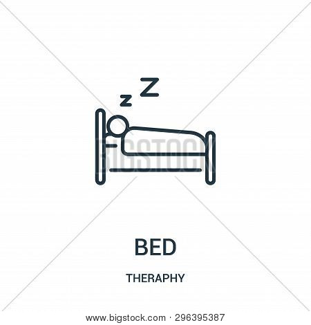 Bed Icon Isolated On White Background From Theraphy Collection. Bed Icon Trendy And Modern Bed Symbo