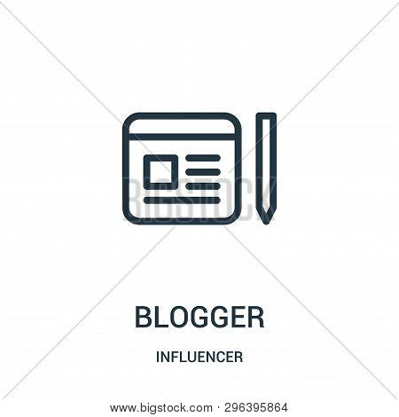 Blogger Icon Isolated On White Background From Influencer Collection. Blogger Icon Trendy And Modern