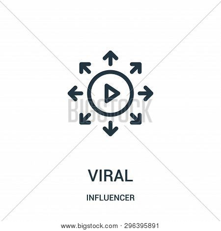 Viral Icon Isolated On White Background From Influencer Collection. Viral Icon Trendy And Modern Vir