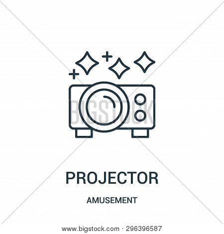 Projector Icon Isolated On White Background From Amusement Collection. Projector Icon Trendy And Mod