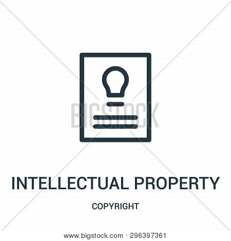 Intellectual Property Icon Isolated On White Background From Copyright Collection. Intellectual Prop