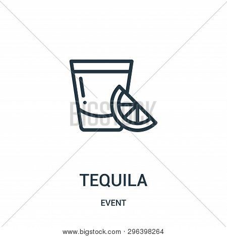 Tequila Icon Isolated On White Background From Event Collection. Tequila Icon Trendy And Modern Tequ