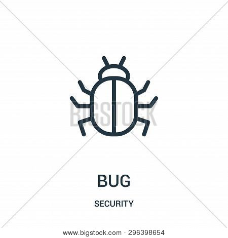 Bug Icon Isolated On White Background From Security Collection. Bug Icon Trendy And Modern Bug Symbo