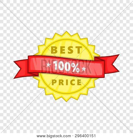 Best Price Rosette Icon. Cartoon Illustration Of Best Price Rosette Vector Icon For Web