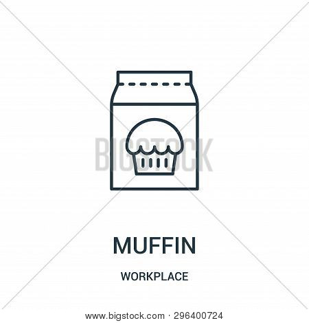 Muffin Icon Isolated On White Background From Workplace Collection. Muffin Icon Trendy And Modern Mu