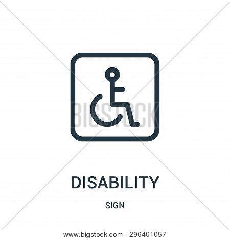 Disability Icon Isolated On White Background From Sign Collection. Disability Icon Trendy And Modern