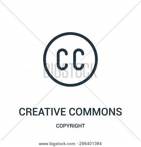Creative Commons Icon Isolated On White Background From Copyright Collection. Creative Commons Icon