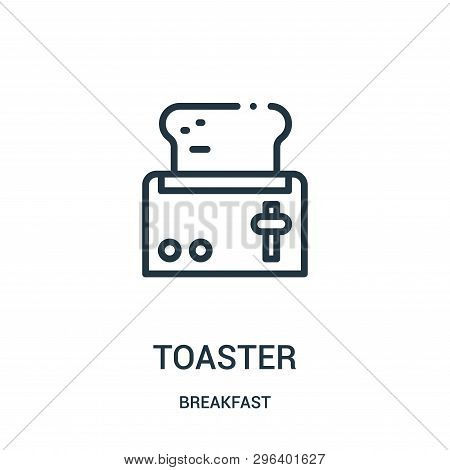 Toaster Icon Isolated On White Background From Breakfast Collection. Toaster Icon Trendy And Modern