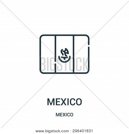 Mexico Icon Isolated On White Background From Mexico Collection. Mexico Icon Trendy And Modern Mexic