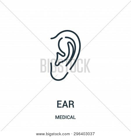 Ear Icon Isolated On White Background From Medical Collection. Ear Icon Trendy And Modern Ear Symbol
