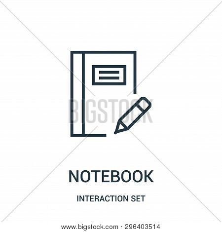 Notebook Icon Isolated On White Background From Interaction Set Collection. Notebook Icon Trendy And
