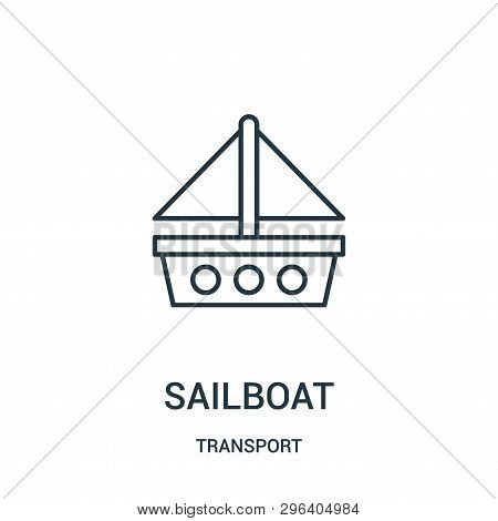 Sailboat Icon Isolated On White Background From Transport Collection. Sailboat Icon Trendy And Moder