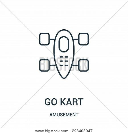 Go Kart Icon Isolated On White Background From Amusement Collection. Go Kart Icon Trendy And Modern