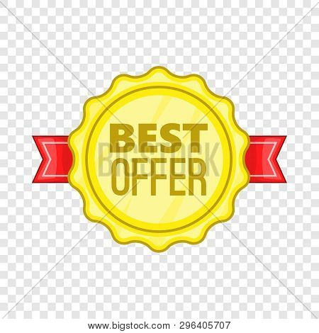 Best Offer Label Icon. Cartoon Illustration Of Best Offer Label Vector Icon For Web