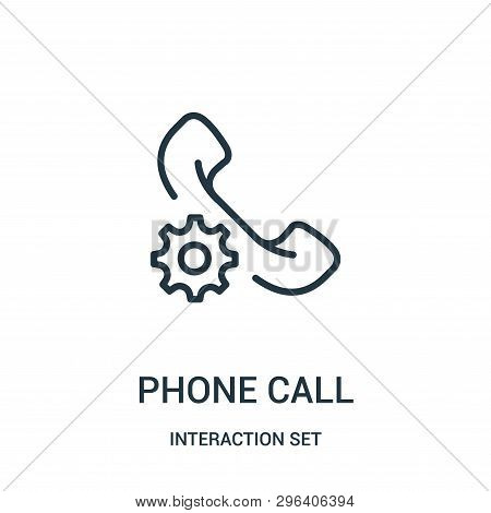 Phone Call Icon Isolated On White Background From Interaction Set Collection. Phone Call Icon Trendy