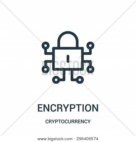 Encryption Icon Isolated On White Background From Cryptocurrency Collection. Encryption Icon Trendy