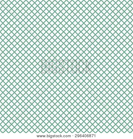 Seamless Guilloche Pattern Squares Rhombuses Of Dots, Vector Seamless Watermark For Valuable Documen