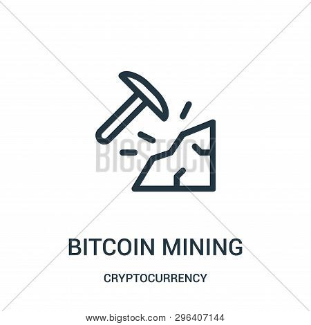 Bitcoin Mining Icon Isolated On White Background From Cryptocurrency Collection. Bitcoin Mining Icon