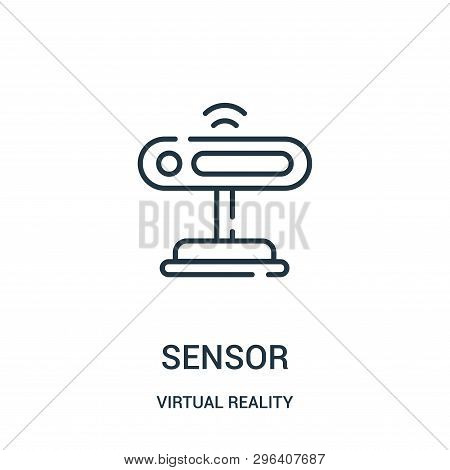Sensor Icon Isolated On White Background From Virtual Reality Collection. Sensor Icon Trendy And Mod