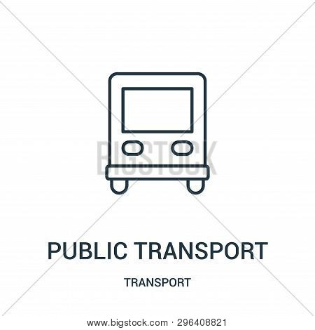 Public Transport Icon Isolated On White Background From Transport Collection. Public Transport Icon