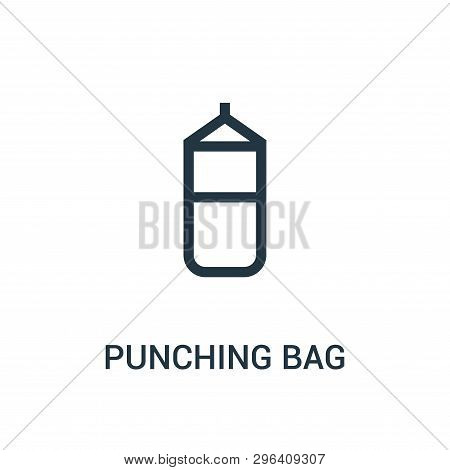 Punching Bag Icon Isolated On White Background From Gym Collection. Punching Bag Icon Trendy And Mod