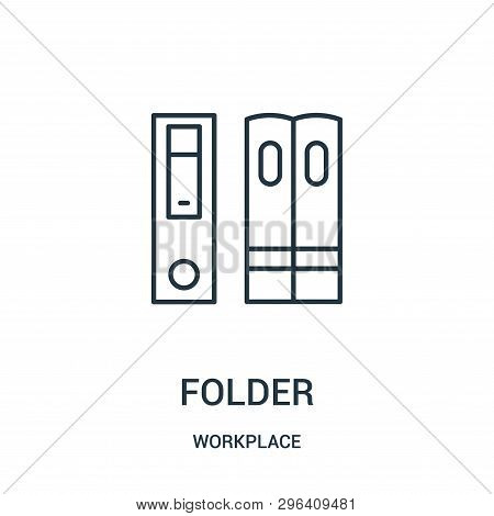 Folder Icon Isolated On White Background From Workplace Collection. Folder Icon Trendy And Modern Fo