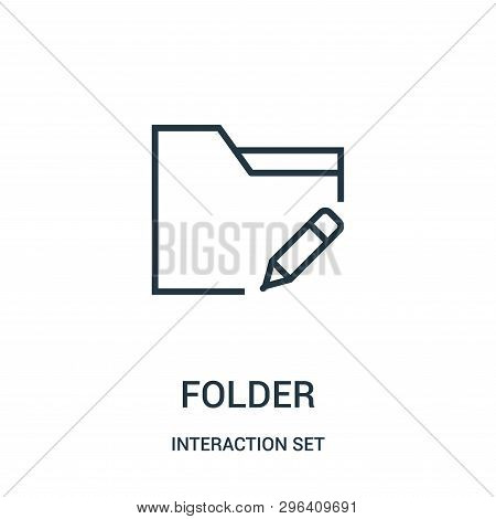 Folder Icon Isolated On White Background From Interaction Set Collection. Folder Icon Trendy And Mod