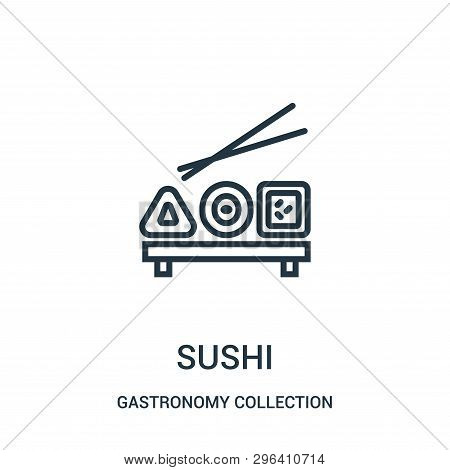 Sushi Icon Isolated On White Background From Gastronomy Collection. Sushi Icon Trendy And Modern Sus