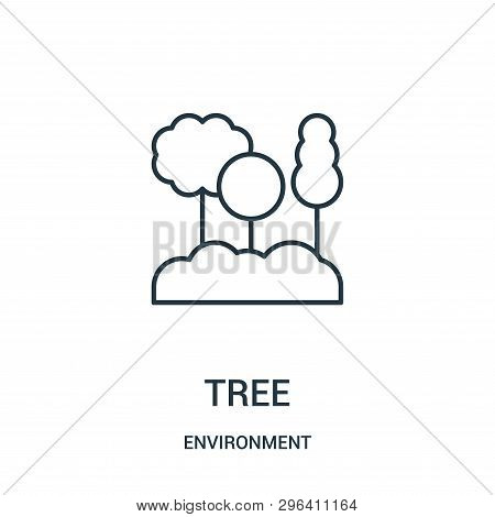 Tree Icon Isolated On White Background From Environment Collection. Tree Icon Trendy And Modern Tree