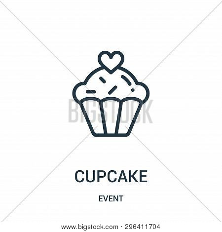 Cupcake Icon Isolated On White Background From Event Collection. Cupcake Icon Trendy And Modern Cupc