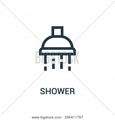 Shower Icon Isolated On White Background From Gym Collection. Shower Icon Trendy And Modern Shower S