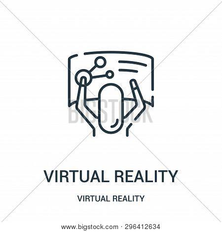 Virtual Reality Icon Isolated On White Background From Virtual Reality Collection. Virtual Reality I