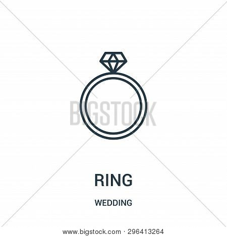 Ring Icon Isolated On White Background From Wedding Collection. Ring Icon Trendy And Modern Ring Sym